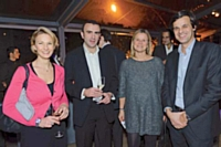 Caroline Gillon, Editialis Factory (groupe Editialis) et Sophie Mazurel, Marketing Direct, Nicolas Le Herissier, directeur marketing et communication de Houra.fr et Olivier Tarneaud, directeur marketing d'ADP.