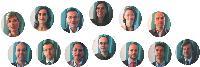 De gauche à droite et de haut en bas: Thérèse Aldebert, Directrice marketing de Nespresso France, Margerie Barbes- Petit, Directrice de marque de Nina Ricci Parfums, Richard Bordenave, Directeur marketing international de Danone Branche Biscuits, Elisabeth Cialdella, Directrice marketing France de 20 Minutes, Ava Eschwège, Rédactrice en chef de Marketing Magazine, Rémi Guigou, Directeur de l'image et de la marque de Monoprix, Alain Kergoat, Directeur marketing de Toshiba Systèmes, Philippe Lasne, Directeur de la communication de LG, Franck Mathais, Directeur de la communication de La Grande Récré, Pierre Ortal, Directeur marketing et cation de Virgin Megastore, Olivier Teboul, Directeur marketing TRE de L'Oréal division Produits de Luxe, Philippe Thobie, marketing et communication Europe, Afrique et Moyen-Orient d'Apple, Alexis Trichet, directeur marketing d'Orange France.