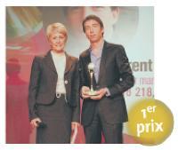 Martine Hollinger (directrice générale de TF1 Publicité), Laurent Foisset (directeur marketing de 118 218).