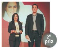 Aliza Jabès (présidente de Nuxe), Stéphane Marcel (directeur marketing et développement de TNS Sofres).