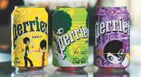 Perrier a confié ses canettes et bouteilles du circuite CHR au créateur barcelonais Custo. Une alliance qui donne à la marque un côté fun et branché.