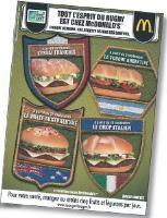 Grâce à sa campagne, McDo va emmener ses clients au coeur des actions de rugby et leur faire faire un tour du monde culinaire.
