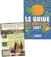 Le guide des biocoops présente les points de vente et le magazine trimestirel l'actualité de l'alimentation bio.