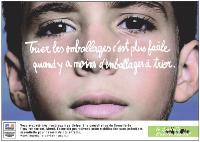 Dans ses conclusions et à travers cette campagne publicitaire, le Grenelle de l'environnement accuse une fois encore le suremballage.