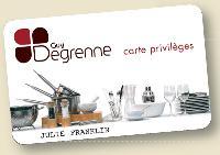Guy Degrenne compte 33000 détenteurs de sa carte de fidélité.