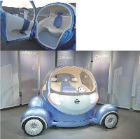 La Pivo 2 de Nissan propose de nombreuses nouveautés technologiques, dont un petit compagnon cybernétique posé sur le tableau de bord.