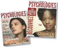 La nouvelle formule de Psychologies Magazine, à droite, s'est étoffée d'une quinzaine de pages.
