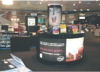 Intel s'invite sur les points de vente de la Fnac avec un merchandising spécial.