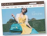 Le site web de Coach (sacs, bijoux, prêt-à-porter, etc.) est devenu la plus grande boutique de la marque.