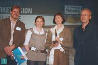 1 Jean-Christophe Beau (Market Vision), Sophie rivet (Market Vision), Anita Hughey (Henkel France) et Christophe Féry (tarsus/Semo).