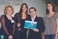 3 Gwenola Garel (Sylvie de France), Sylvie de France (Sylvie de France), Hocine Bouguelane (Parfums Lolita Lempicka) et Béatrice Héraud (Marketing Magazine).