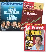 Les Unes des magazines, comme Le Nouvel Observateur, Alternatives Economiques ou encore Le Point, répondent à l'engouement des lecteurs pour les chiffres.