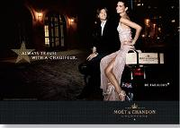 La campagne internationale de publicité Moët & Chandon n'est pas autorisée en France. elle est pourtant visible sur le site web de la marque.