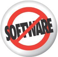 Le pure player salesforce.com a accolé à son nom le logo «no software» («Pas de logiciel») Pour Montrer qu'il vend exclusivement du SaaS.