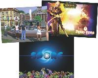 en 2009, electronic arts va lancer Sims 3, au réalisme accru, tandis que World of Warcraft a conquis plus de 10 millions de joueurs en ligne. Lancé en septembre, Spore est à la fois un réseau social, un outil créatif et un jeu.