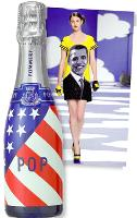 Pop a lancé une bouteille collector...tandis que Jean-Charles de Castelbajac a imaginé une robe à l'effigie