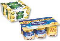 En septembre, Danone a frappé fort avec l'Ecopack, la qualité Danone à prix doux. Mais la marque continue aussi d'innover sur des produtits santé.