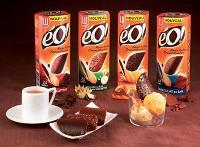 Déclinée en quatre saveurs au chocolat, la gamme éO! vise les 30-50 ans, une cible qui représenterait 40 % des consommateurs de biscuits céréaliers.