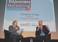 Christian Polge (à droite), président de Coca-Cola France, répond aux questions de François Rouffiac, directeur de la rédaction de Marketing Magazine.