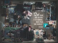 Débutée en novembre 2008 et réalisée par BDDP Unlimited, la campagne de la Fondation Abbé Pierre dénonce la précarité de 2,4 millions de ménages en France.