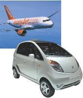 Les marques low cost, telles que easyJet ou Tata Nano, bénéficient de la crise.