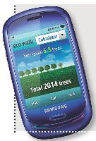 Le Samsung Blue Earth est équipé d'un podomètre qui calcule le nombre d'arbres sauvés en cas de déplacements à pied plutôt qu'en transports.