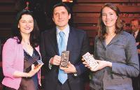 Nadia CANCADE (KR Média), Fabio GRILLI et Constance OFFROY (Ferrero France).