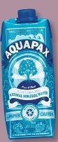 Proposer un pack a priori peu compatible avec le produit, c'est le concept retenu par Drinkiz pour son eau Aquapax.