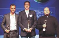 Hugues Pietrini (Orangina Schweppes), Philippe Cantet (Innocent France) et Mathieu Minel (Nintendo France).