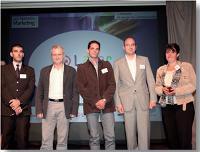 Patrick Russo (LaSer) a remis le Trophée Stratégie de communication à Eric de Rugy et Xavier Modin (Né Kid) ainsi qu'à Christian Commissaire et Nathalie Mangane (Corsairfly).