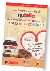 Nutella a choisi de le communiquer qu'auprès des parents, comme en témoigne sa campagne menée avec le Secours Populaire.
