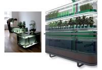 Le Biosphère Home Farming de Philips permet de produire chez soi aliments, énergie et eau propre. De son côté, le designer Mathieu Lehanneura créé une unité de stockage de poissons combinée à un petit potager.