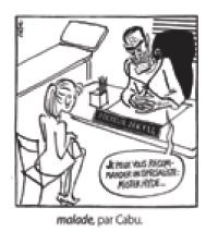 malade, par Cabu.