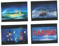 La marque de bonbons Haribo a investi les salles de cinéma pour diffuser un spot publicitaire 3D Relief.
