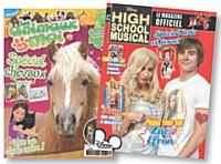 Les titres pour filles se multiplient. A l'instar du mensuel Les Animaux et Moi (Full FX) ou de High School Musical Magazine (Disney Hachette Presse).