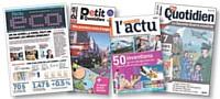 Les journaux de Play Bac Presse, destinés aux 15-20 ans, leur parlent sur un ton simple et pédagogique.