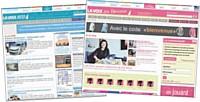 La Voix du Nord mise sur une information miroir grâce à ses sites comme Lavoixdunord-aufeminin.fr et Lavoixeco.com.