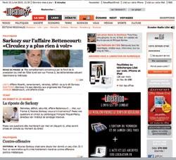 Malgré le déclin du journal, Libération, se veut dynamique sur le Web.