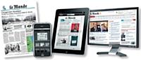 Pour 29,90 euros par mois, Le Monde propose une offre Quadriplay permettant aux abonnés de s'informer par le biais du Web, du papier, de l'iPhone et de l'iPad.