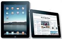 Offrant un confort de lecture [proche de celui du journal papier, l'iPad intéresse aussi les éditeurs de presse.