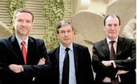 François robin, Bernard Mazurier et Philippe Mudry, un trio de choc pour relancer l'Agefi.