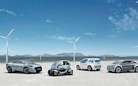 Fluence, twizy ZE Concept, Kangoo, zoé sont les quatre modèles de la gamme de voitures électriques de l'industriel français Renault.