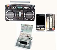 iPhone, clés USB... Les produits emblématiques de la technologie actuelle se parent d'habillages vintage.