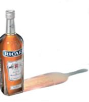L'identité de la bouteille Ricard a été préservée.