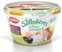 Le packaging des «Saladières pleine saveur» est adapté à la consommation nomade.