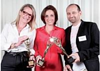 De gauche à droite: Véronique Gohmann, directrice marketing et communication d'Yves Rocher, Canel Frichet, directrice générale de Winamax, Michaël Aïdan, directeur marketing monde d'Evian.
