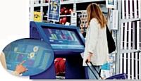 Au magasin Castorama de Villabé (Essonne), les clients ont accès à des bornes interactives.