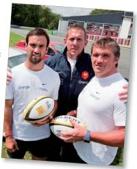 Renault a tourné un film publicitaire avec trois joueurs de l équipe de France de rugby.