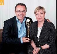 23 Manuel Berquet-Clignet (Coca-Cola France) et Sylvia Tassan-Toffola (TF1 Publicité)
