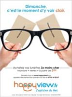 L'arrivée des sites de lunettes et lentilles en lignes tels que Happyview fait baisser les prix.